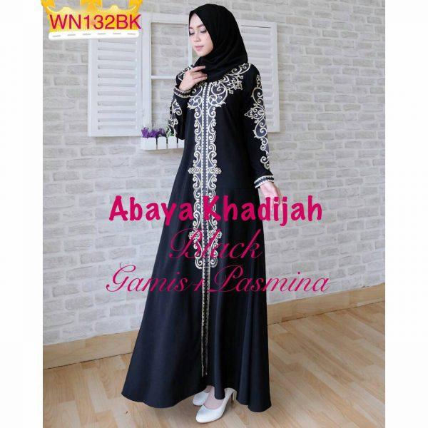 Baju muslim pesta bordir abaya khadijah grosir gamis murah Baju gamis putih murah