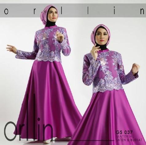 Model Baju Gamis Brokat Untuk Pesta Pernikahan