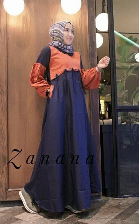 Gamis Remaja Modis Zanana Maxi | Baju Muslim Modern
