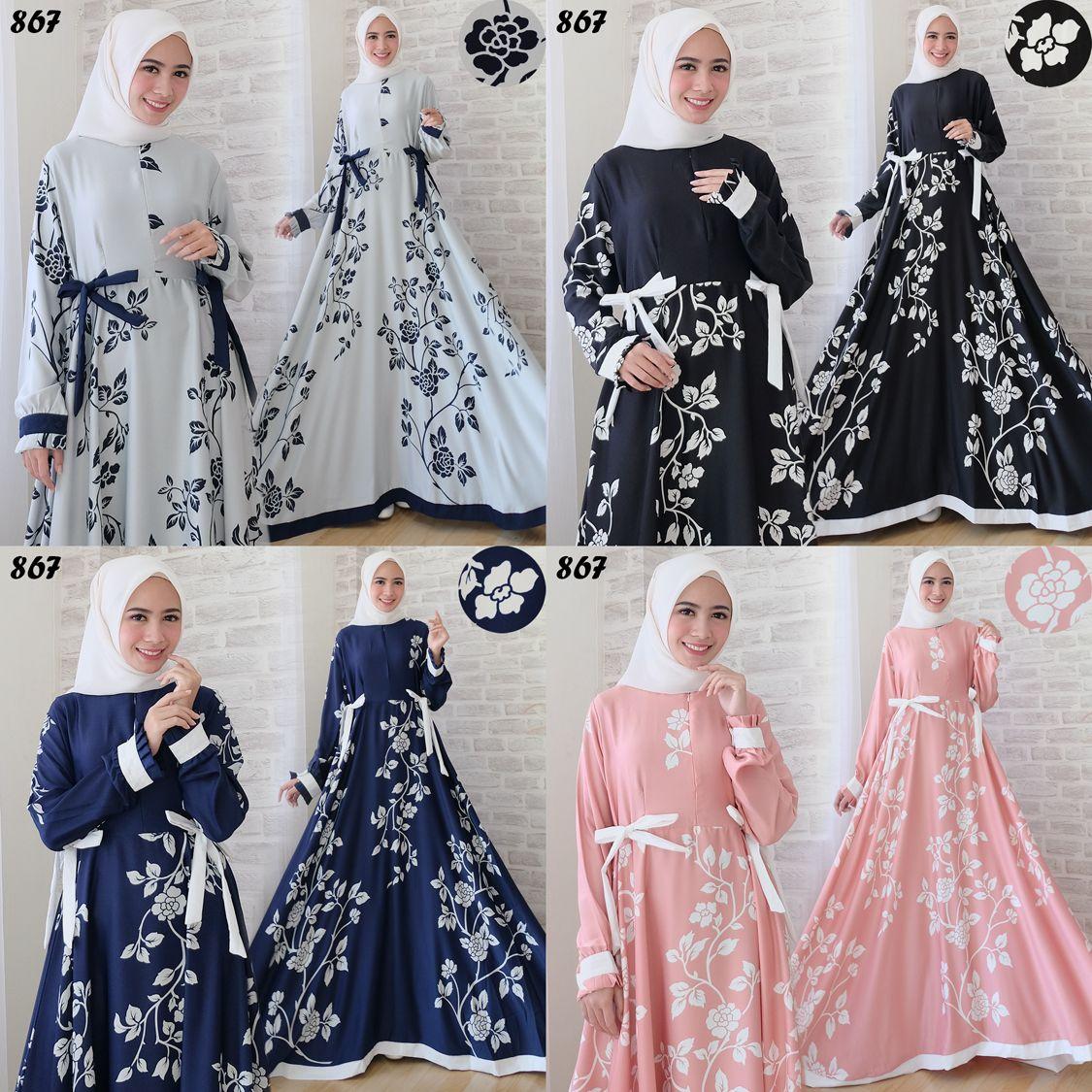 Gamis Modern Maxi Maxmara C10  Baju Muslim Remaja - Butik Jingga