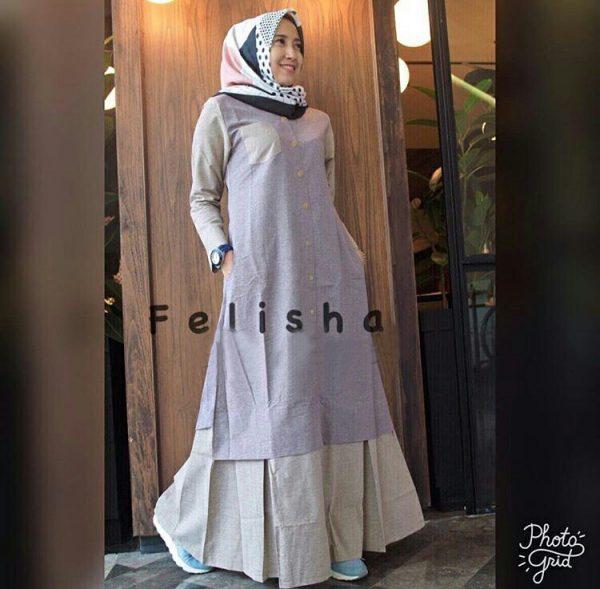 Gamis Remaja Modern Maxi Felisha Baju Muslim Terbaru