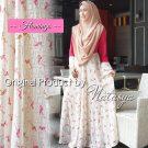 Baju Muslim Kombinasi Flamingo Syari