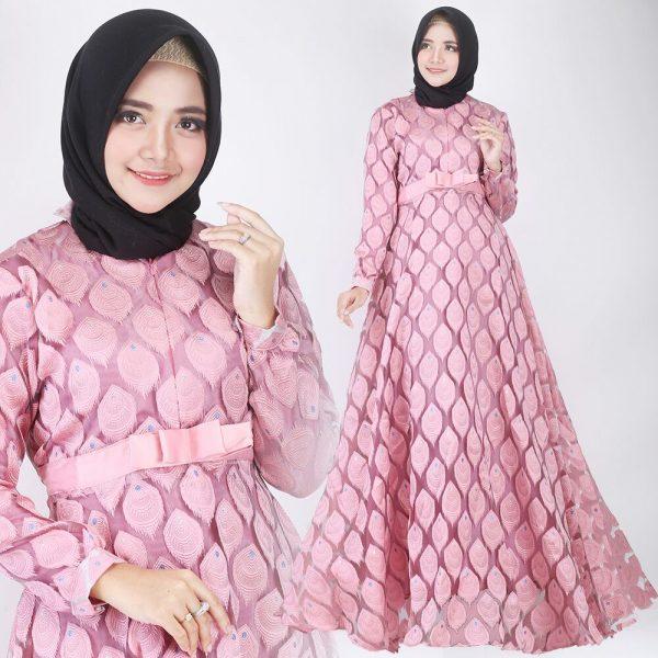 Model Baju Gamis Dari Kain Organza Model Hijab Terbaru