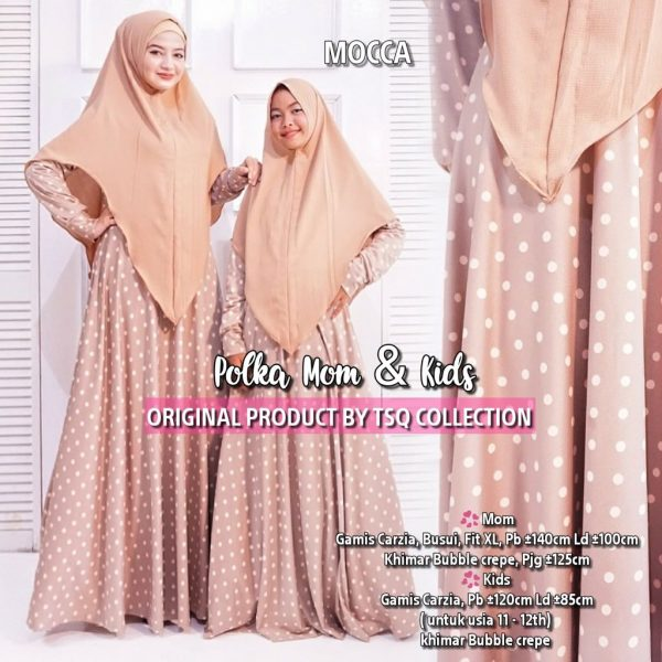 gamis couple mom and kid