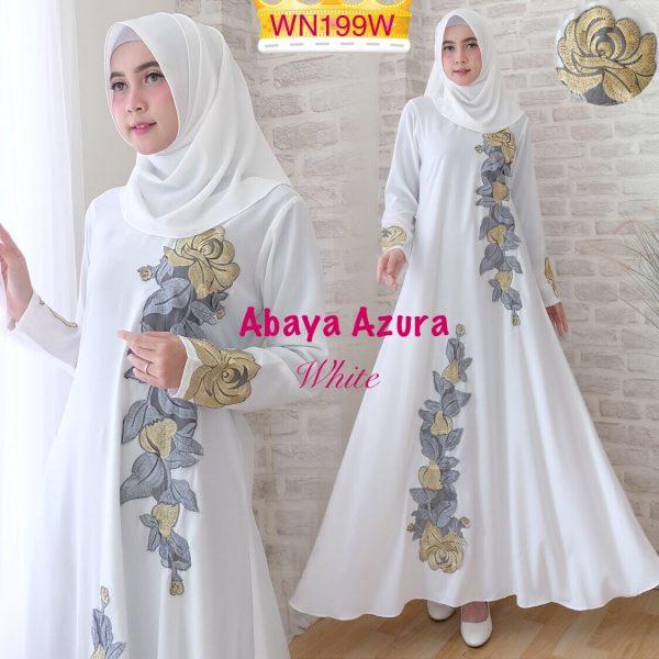 abaya putih