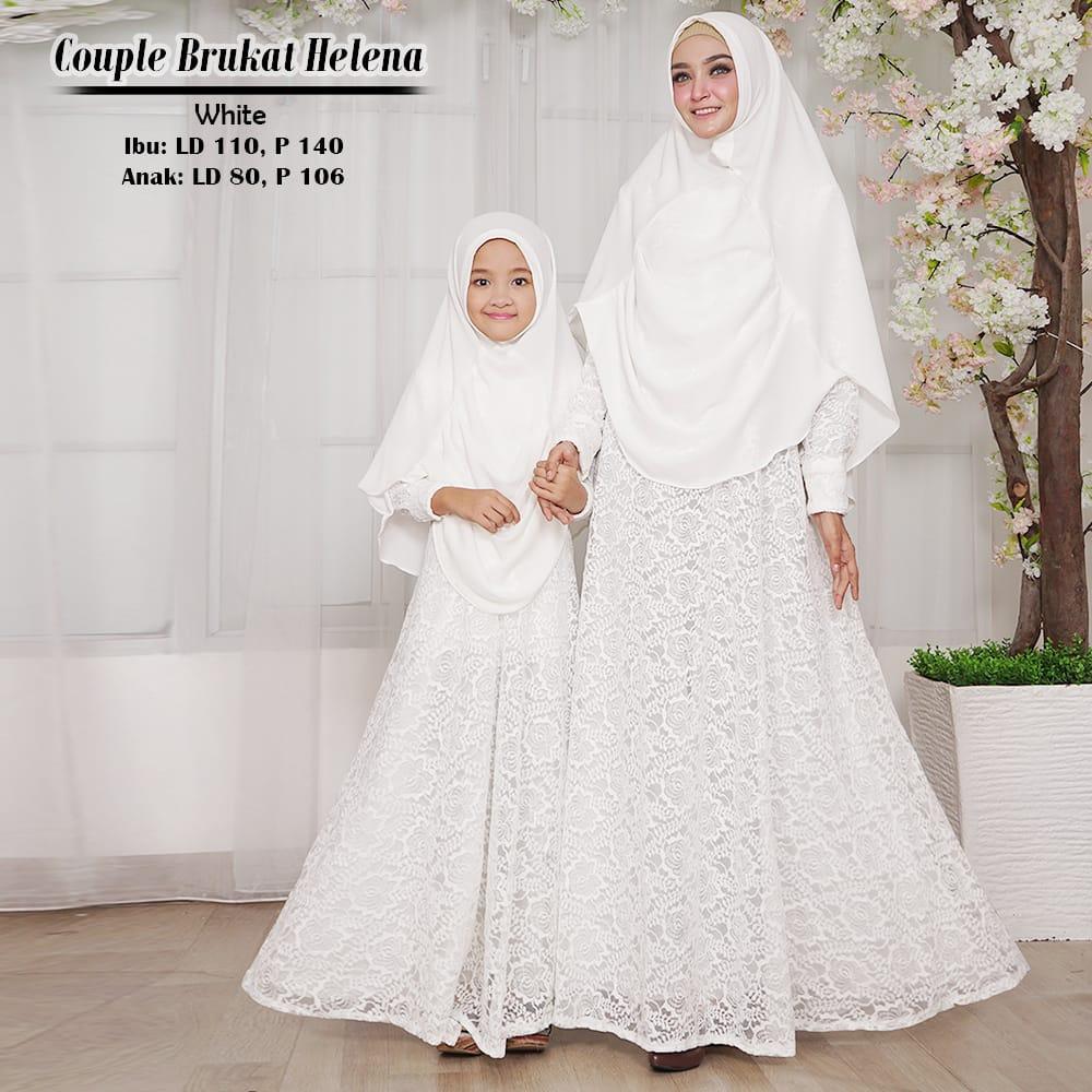 Baju Gamis Couple Helena Brokat Busana Muslim Modern Butik Jingga
