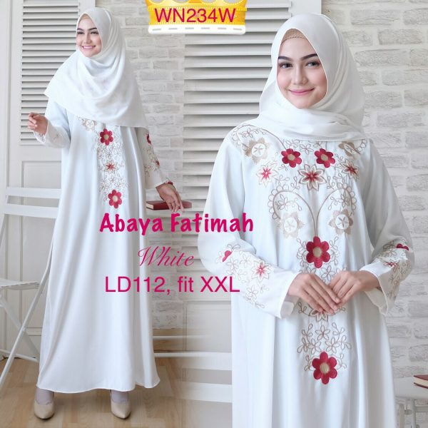 abaya putih fatimah