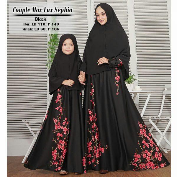 Baju Gamis Couple Maxmara Sephia