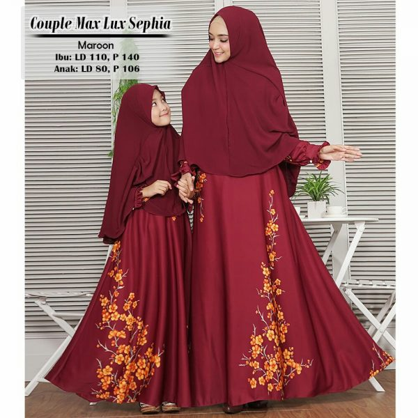 model baju gamis couple sephia