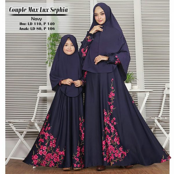 baju couple muslim sephia