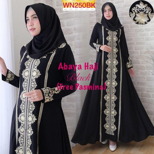gamis abaya haji hitam