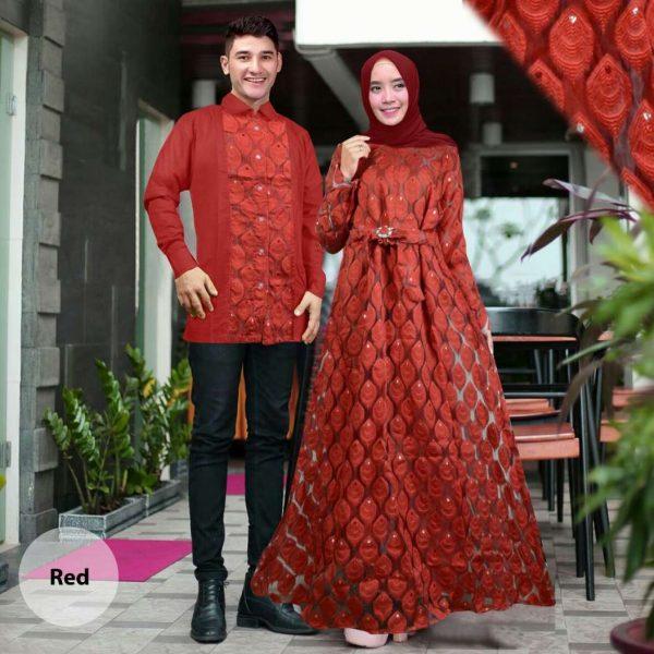Baju Gamis Couple Syahiba Organza Butik Jingga