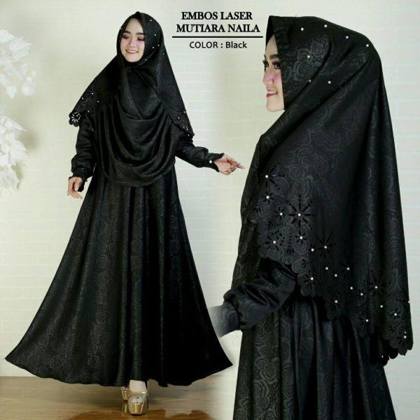 baju gamis hitam cantik