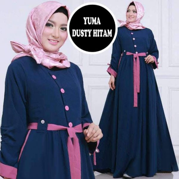 baju muslim modern yuma maxi