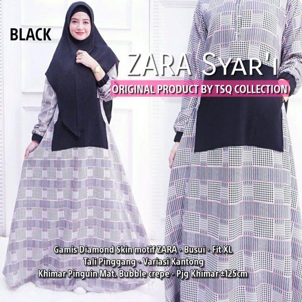 Gamis Modern Zara Syari hitam