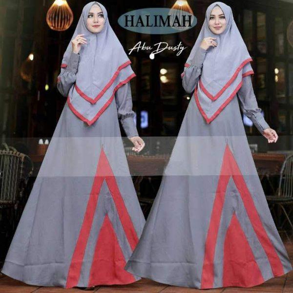 baju gamis modern halimah