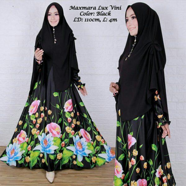 baju muslim mo tif bunga vini