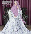 Gamis Syari Fairuz Motif Bunga Cantik