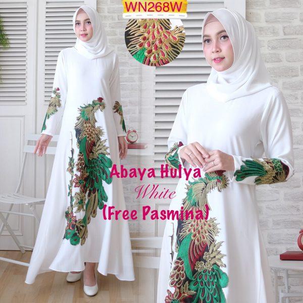 abaya putih hulya