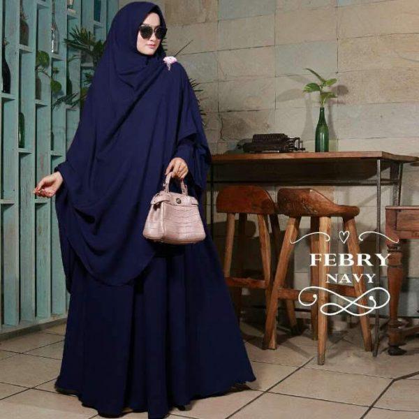 baju muslim polos febry