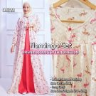 Gamis Modern Long Cardi Flamingo