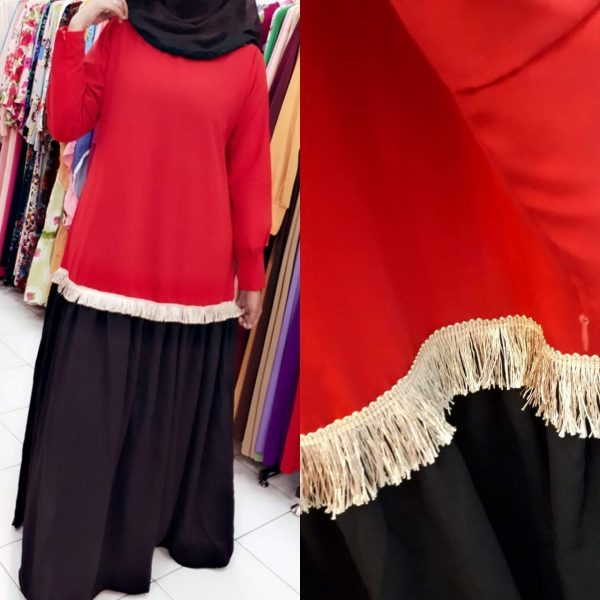 model gamis polos