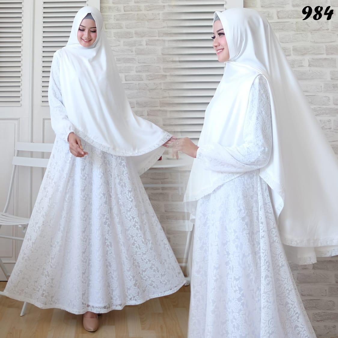 Baju Gamis Brokat Putih 984 Butik Jingga