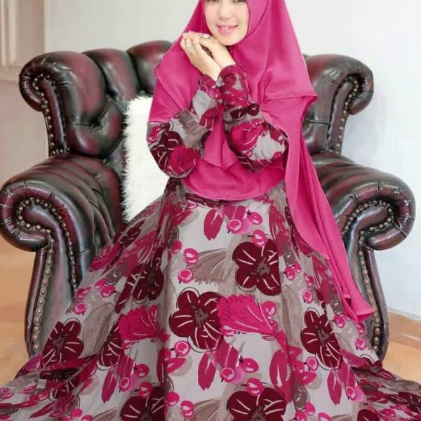 gamis modern monalisa pink