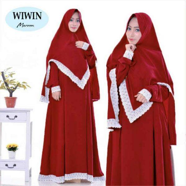 baju muslim polos wiwin