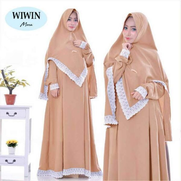 gamis polos wiwin