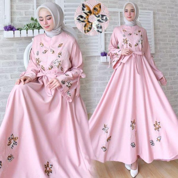 baju muslim modern baloteli pink