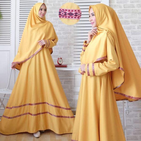 baju muslim baloteli songket murah warna kuning