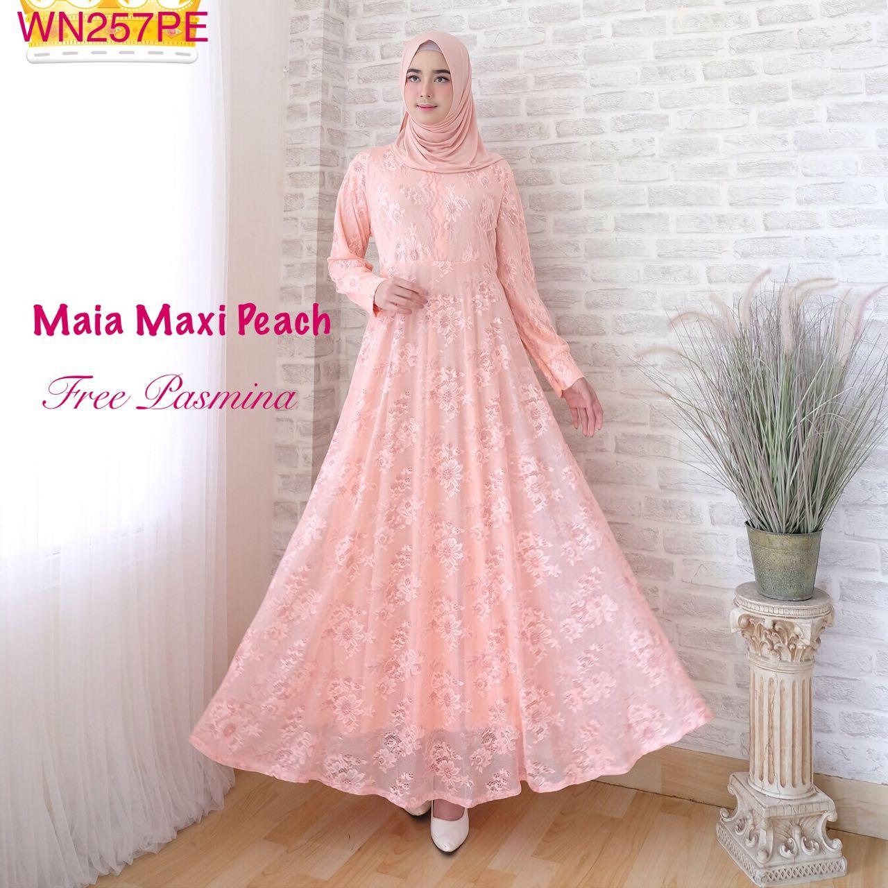 Baju Muslim Modern Maia Brokat Butik Jingga