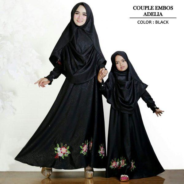 baju couple ibu dan anak adelia hitam