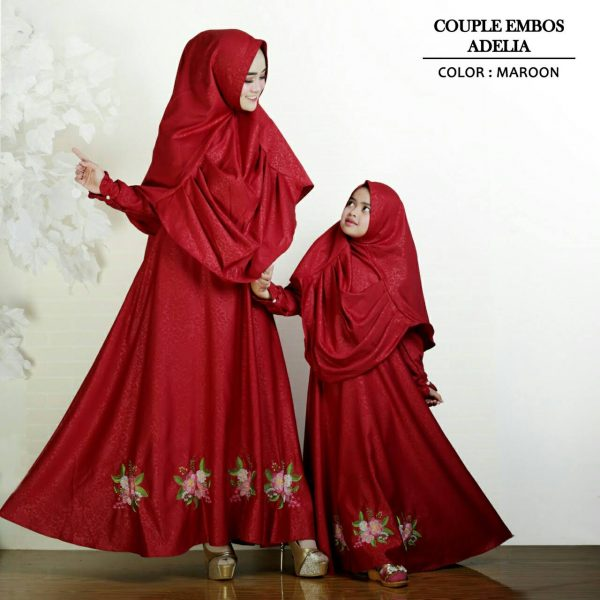 model gamis couple adelia