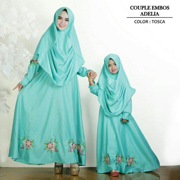 baju gamis couple ibu dan anak adelia