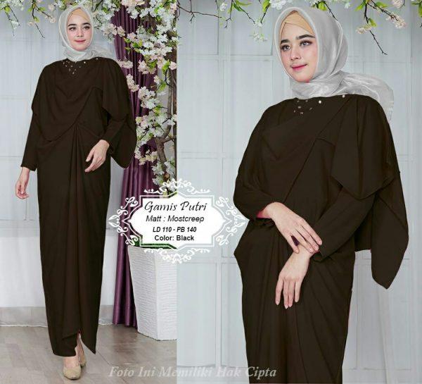 baju muslim semi kaftan gamis putri