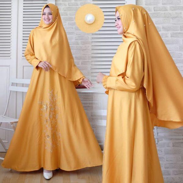 baju muslim polos syari riana