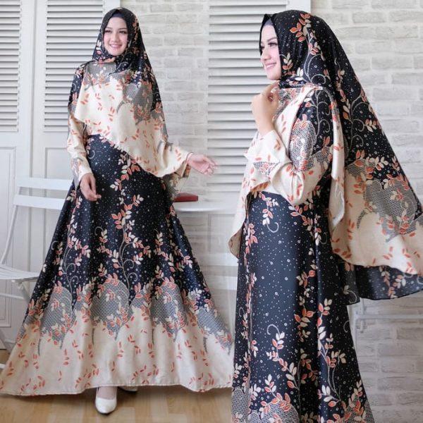 baju setelan batik maxmara nona hitam