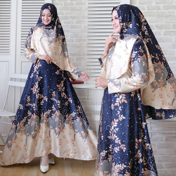 baju setelan batik maxmara nona navy