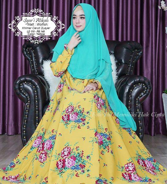 model gamis Syari Atikah