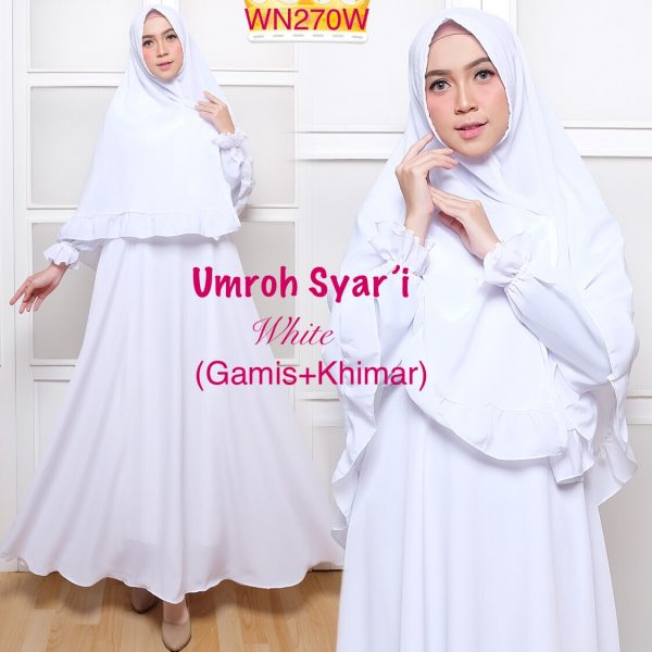 Baju Muslim Polos Umroh Syari Gamis Murah Butik Jingga