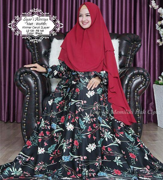 baju muslim jumbo aleesya