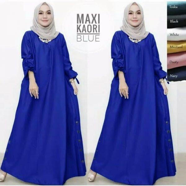 model gamis remaja maxi kaori biru