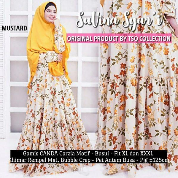gamis motif bunga savina syari
