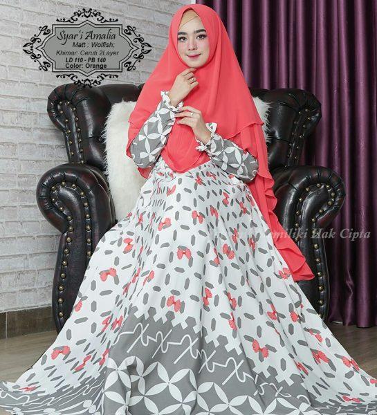 baju muslim syari amalia