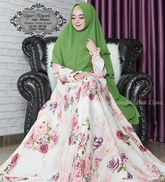 baju muslim riyanti hijau