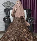Gamis Motif Leopard Syari Monalisa