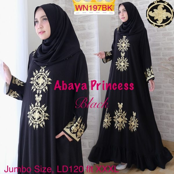This image has an empty alt attribute; its file name is abaya-princess-hitam-600x600.jpeg