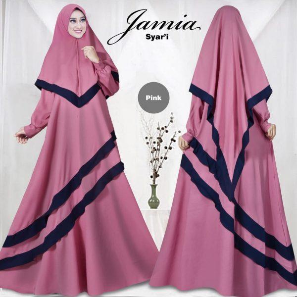 Gamis Syari Jamia Mostcrepe Baju Muslim Modern Butik Jingga